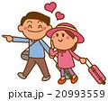 新婚旅行のイラスト 20993559