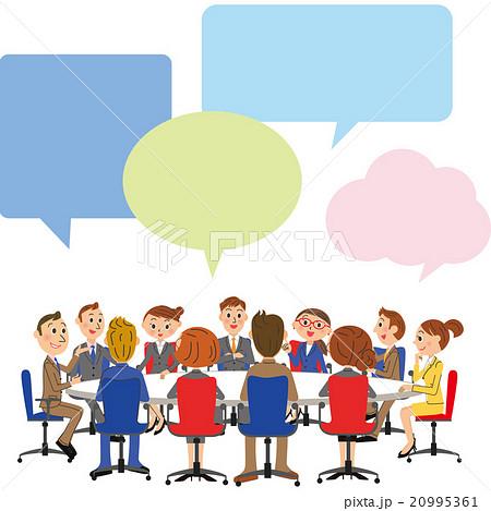ビジネス会議シーンのイラスト素材 20995361 Pixta