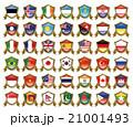 国旗のバッジのイラスト 21001493