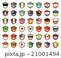 国旗のバッジのイラスト 21001494