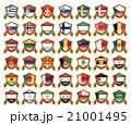 国旗のバッジのイラスト 21001495