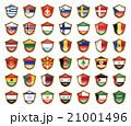 国旗のバッジのイラスト 21001496
