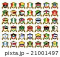 国旗のバッジのイラスト 21001497