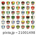 国旗のバッジのイラスト 21001498