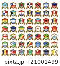 国旗のバッジのイラスト 21001499