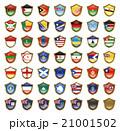 国旗のバッジのイラスト 21001502