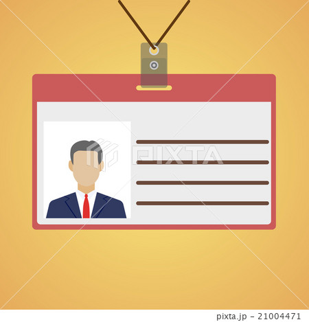 flat design name tag badge template のイラスト素材 21004471 pixta