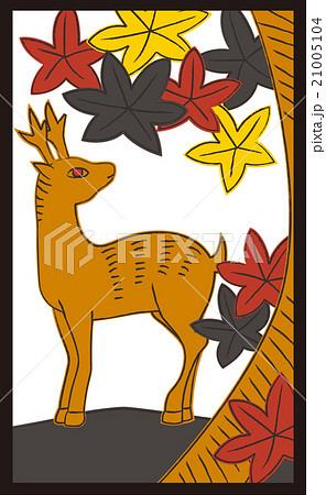 花札10月紅葉1枚目のイラスト素材 21005104 Pixta