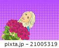 ブーケ 花束 お花のイラスト 21005319