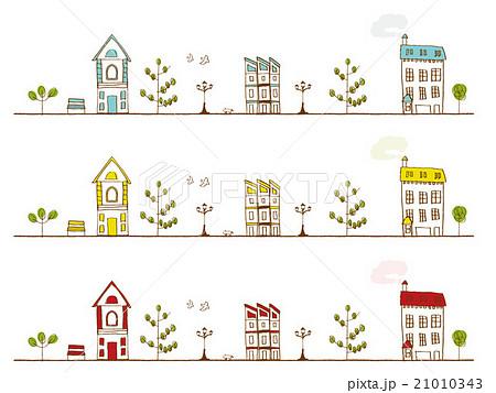 パリの町並みのイラスト素材 21010343 Pixta