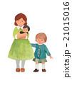 ママ 赤ちゃん 子供 21015016