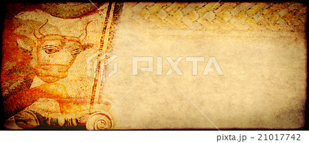 Grunge background with paper texture and mosaicの写真素材 [21017742] - PIXTA