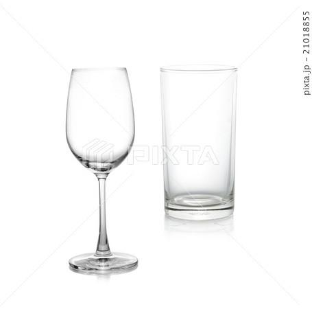 Empty glass isolate on whiteの写真素材 [21018855] - PIXTA