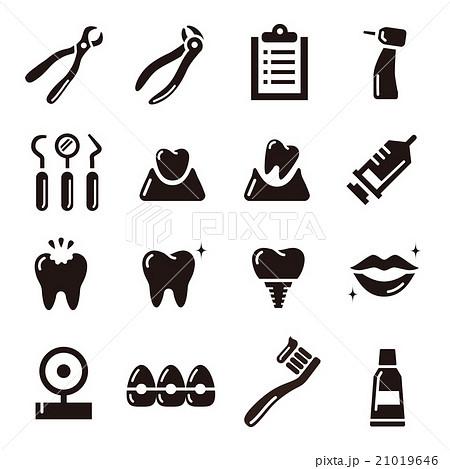 歯科デンタルアイコン 21019646