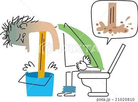 下痢と嘔吐のイラスト素材 [2102...