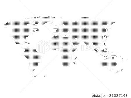 世界地図 ドット イラスト 黒 グラデーション