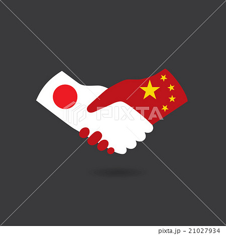 World peace icon, Japan handshake with China 21027934