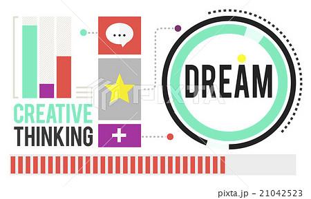 Dream Goal Target Aspiration Imagination Inspiration Conceptのイラスト素材 [21042523] - PIXTA