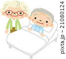 老老介護 介護 夫婦のイラスト 21080124