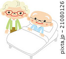 老老介護 介護 夫婦のイラスト 21080126