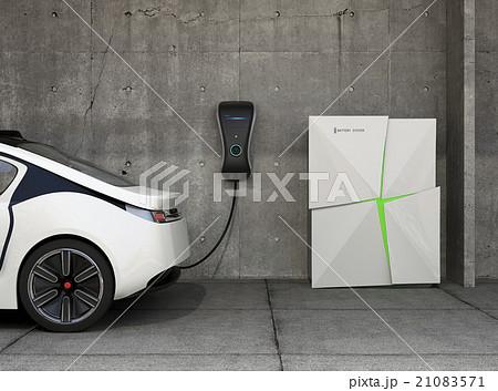 家庭用急速充電器とストレージバッテリーシステムのイメージ 21083571