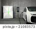 急速充電器 電気自動車 充電のイラスト 21083573