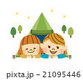 キャンプする女性 21095446