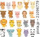 いろいろな動物のキャラクターのセット 21096779