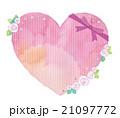 ハート リボン 薔薇のイラスト 21097772