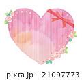 ハート リボン 薔薇のイラスト 21097773