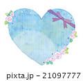 ハート リボン 薔薇のイラスト 21097777
