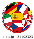 Ball with flag of Spain in the center - vector 21102323