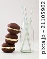 ショコラ ストロー 食の写真 21105962