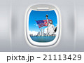 View of America from a plane window graphic image 21113429