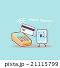 cute cartoon mobile payment 21115799