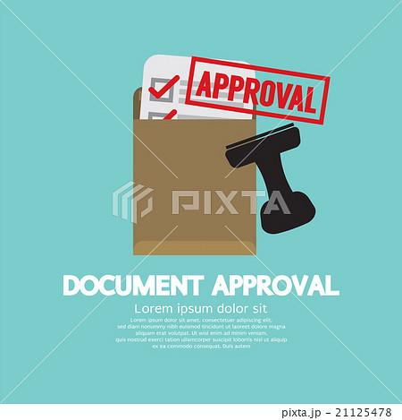 document approval stamp のイラスト素材 21125478 pixta