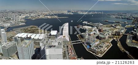 横浜港とみなとみらい地区のパノラマ写真 21126263