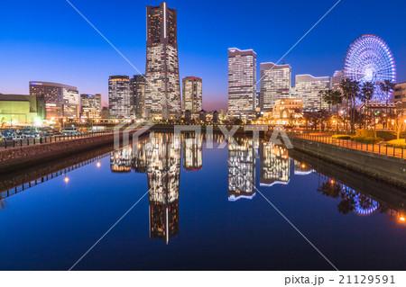 【横浜】みなとみらい・トワイライト夜景 21129591