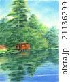 パステル画:兼六園・内橋亭 21136299