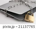 鎖で縛られたコンピュータ 21137765