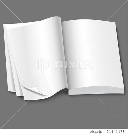 open of book with blank white pagesのイラスト素材 [21141173] - PIXTA
