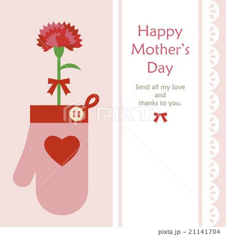 Mothers day Mitten & a carnationのイラスト素材 [21141704] - PIXTA