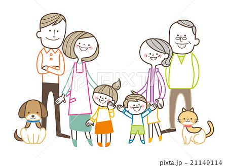 家族 三世代 のイラスト素材 21149114 Pixta