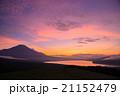 富士山と夕焼け  21152479