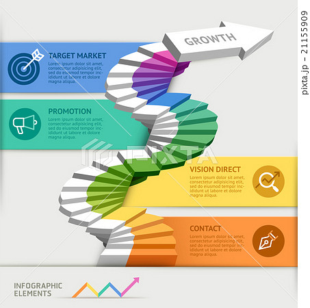steps to starting a business template のイラスト素材 21155909 pixta