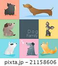 Set of dog family 21158606