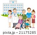 医師と高齢者 家族 医療 21175285