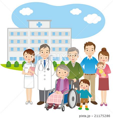 医師と高齢者 家族 医療 21175286