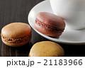コーヒーカップとマカロン 21183966