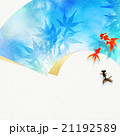 和紙 葉 和柄のイラスト 21192589